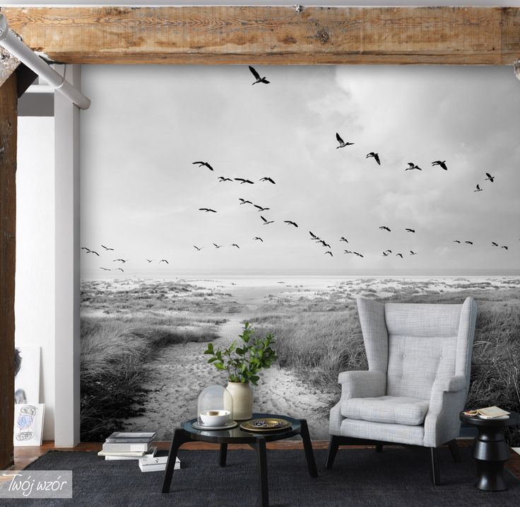 Make your room unique! Beach wallpaper is the perfect idea to decorate your homearea!/ Chcesz urządzić swój dom z pomysłem? Fototapeta z tym wzorem, wypełni Twój pokój spokojem i nada mu orginalny i przytulny klimat. #fototapeta#botanic#wallpaper#design#homedecor#homedesign#interior#cozy#room#forest#calm