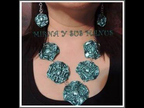 Collar reciclando plastico..... Recycling plastic neckleace