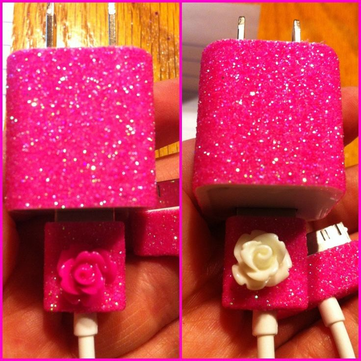 iPhone Charger (customized glitter charger). $15.00, via Etsy.