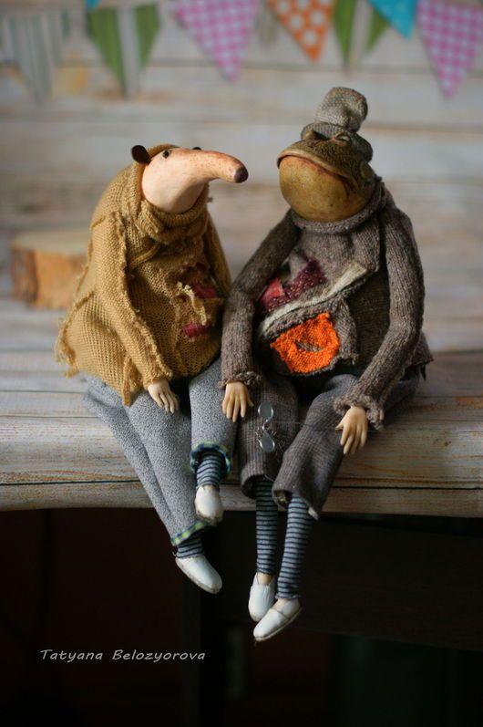 Коллекционные куклы ручной работы. Ярмарка Мастеров - ручная работа. Купить Мистер ЗенЛи и Мистер ВельЗи. Handmade. Комбинированный, папьемаше