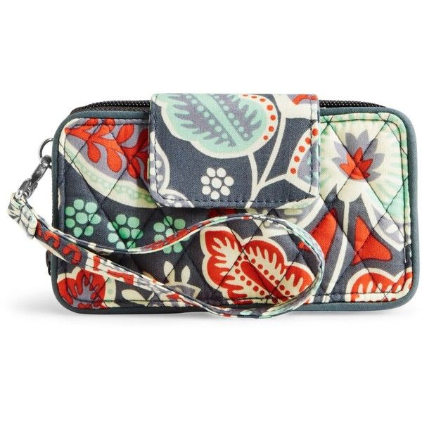 Vera Bradley Smartphone Wristlet for iPhone 6 in Nomadic Floral ($48) ❤ liked on…