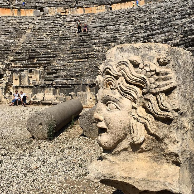 Antique theater in #Myra Lycia (#Demre province of #Antalya)
