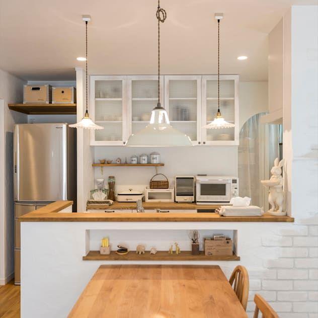 かわいらしさがあふれるプロヴァンス風の住まい Homify キッチンレイアウト プロヴァンススタイル インテリア 家具