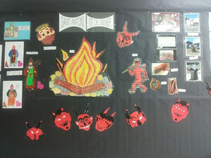 Mural de st antoni i el dimoni