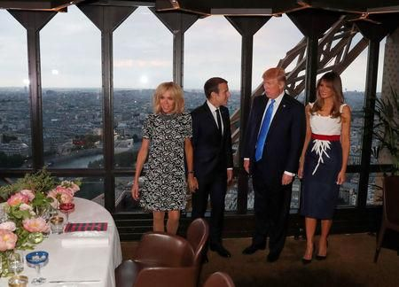 President Trump says French first lady is in 'such good shape'Reuters