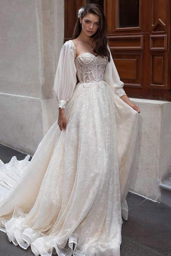 34 Magical Long Sleeve Wedding Dresses For Your Wedding Wedding Dresses Wedding Dress Long Sleeve Wedding Dress Sleeves