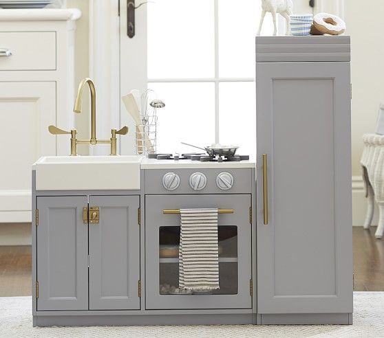 Umm. they can start designing kitchens for me - this is so chic! Chelsea All-in-1 Kitchen | Pottery Barn Kids