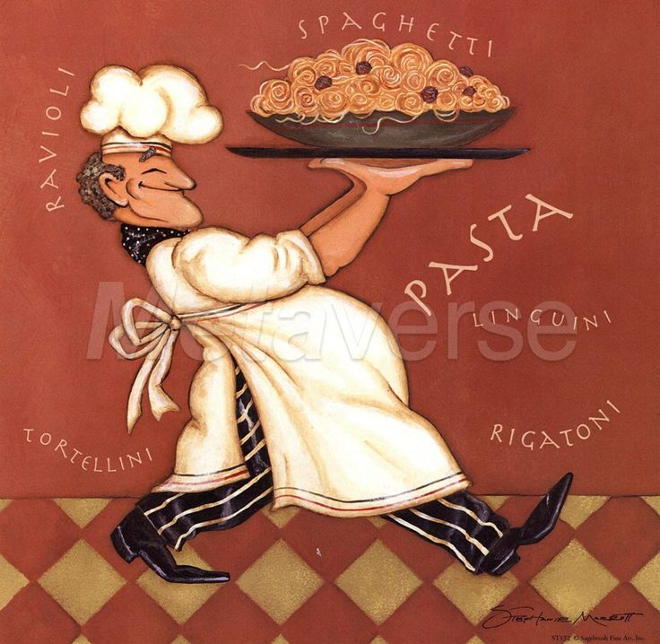 Pasta Chef Poster, by Stephanie Marrott