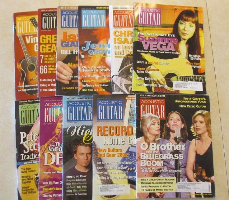 2002 Acoustic Guitar Magazine 11 Issue Lot  The Greatful Dead & Bluegrass & more