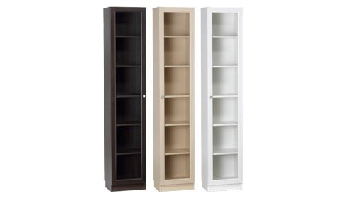 narrow bookshelf white 2