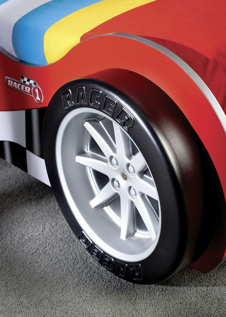 Detalle de la rueda de la cama coche Racer