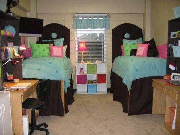 Cute college dorm room home decor pinterest for College apartment bedroom ideas pinterest