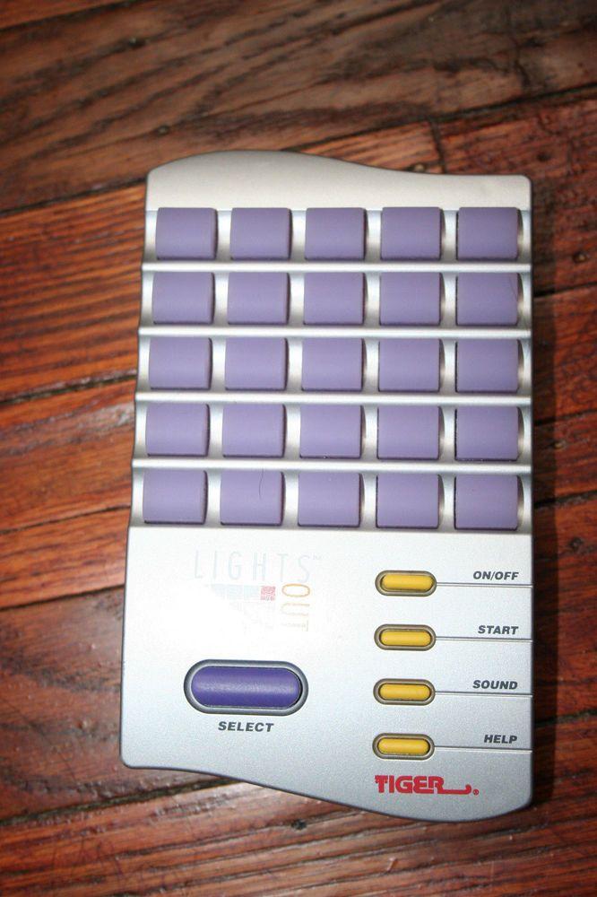 Vintage Tiger Electronics Lights Out Handheld Game 1995 Tested Memory Chasing #TigerElectronics