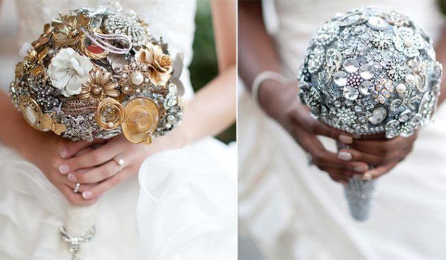 Chcete byť cool nevesta? Najnovším trendom je svadobná kytica z brošní!