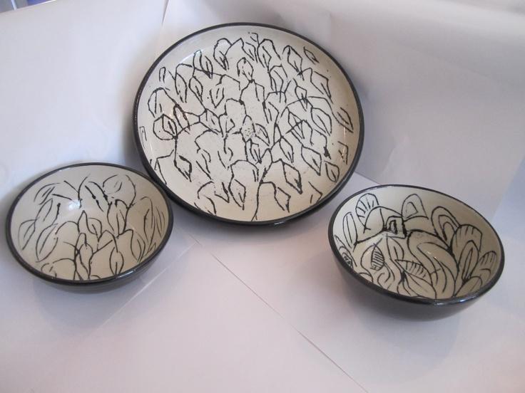 Svart-vita skolar, Mustavalkoisia kulhoja, Black-and-white bowls