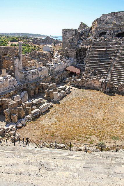 The Roman Theatre - Side, Antalya, Turkey