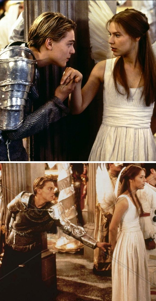 Leonardo DiCaprio and Claire Danes in 'Romeo + Juliet ...