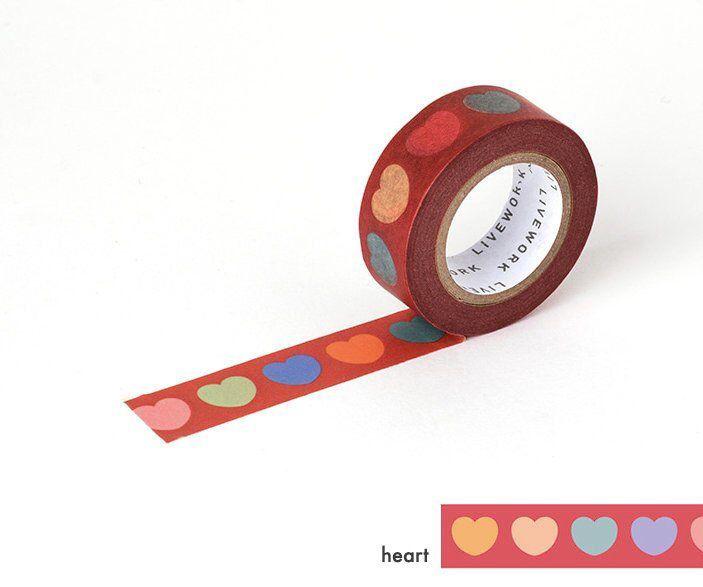 Hearts Washi Tape Craft Tape Scrapbooking Tape
