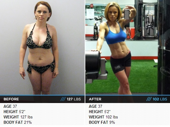 37 year old woman lost 25 pounds and 12% body fat in less ...
