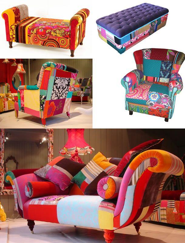 patchwork decoração/ moveis patchwork/ decoração casa