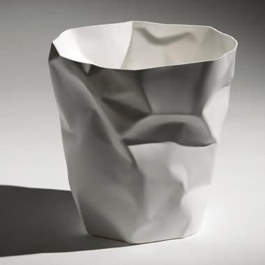 Designer Waste Bin Looks Like Made From Crushed Paper