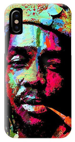 Peter Tosh IPhone X Case featuring the painting Peter Tosh 4 by Otis Porritt