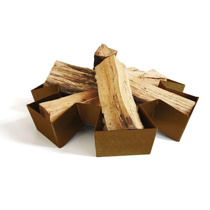 Prairie kampvuur, de vorm geeft aan waar je houtblokken goed liggen
