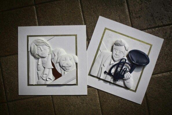 Couple paper craft #Himym #paperart #robinscherbatsky #tedmosby #finale #endingscene