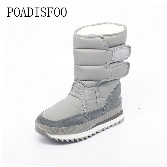 Best Buy $19.95, Buy 2017 Women Platform warm Winter Women Boots woman Snow Boots Santa Claus Plus Size Warm Slip on Mid-calf boots shoe .ZYMY-xz-29