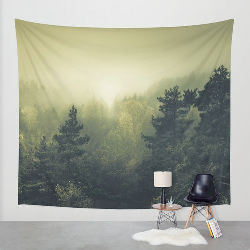 Forests never sleep Wall Tapestry by HappyMelvin | Society6