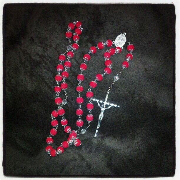 Rosary Beads made from funeral - 75.4KB