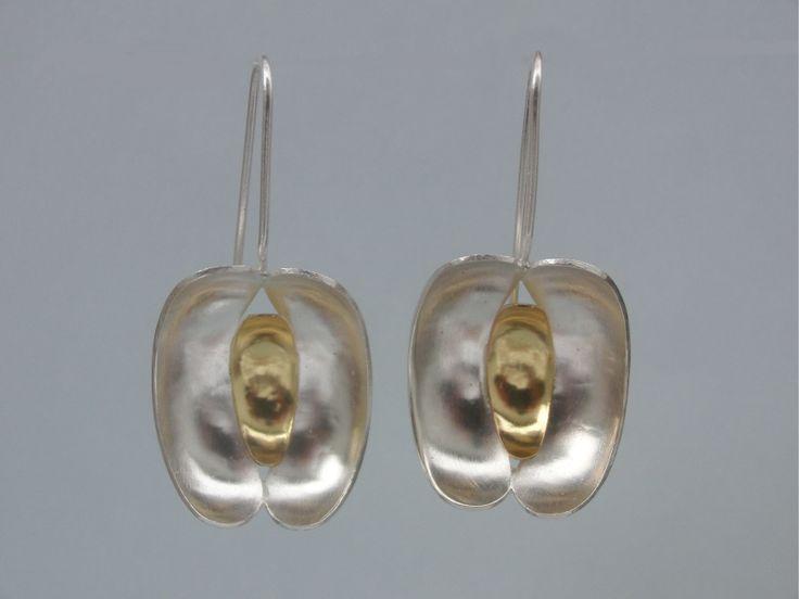 SEEDS Earrings Sterling Silver 925 / 19,2 K Gold