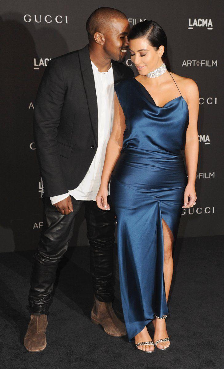 Pin for Later: Les Stars Ont Échangé Leurs Costumes D'Halloween Pour Des Looks Plus Glamour Kim Kardashian et Kanye West