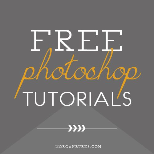 Come learn with me!  Free Photoshop Tutorials at morganburks.com