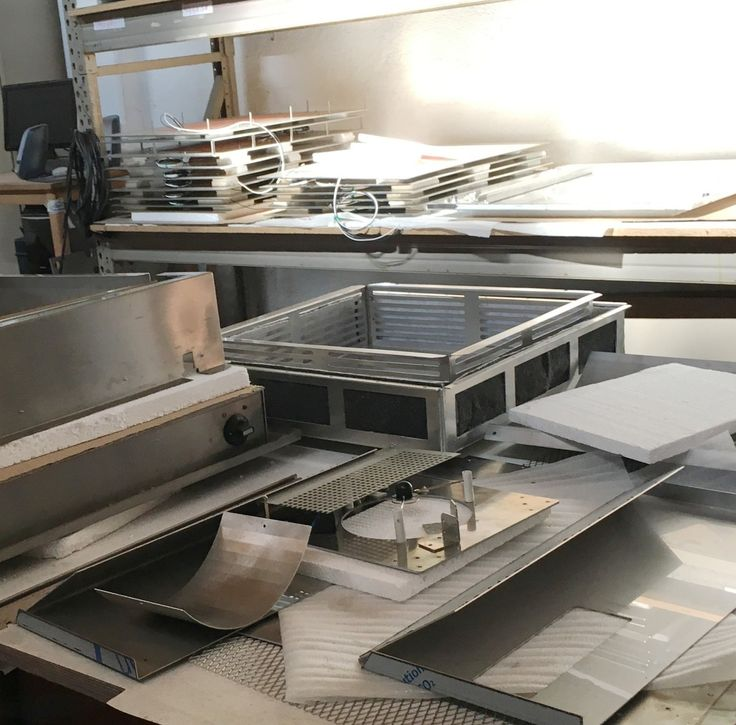 Back at it #monday sometimes looks like chaos, but the creative process #behindthescenes at our manufacturer in Germany brings exciting things to us here at Cook-N-Dine.