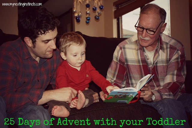 25 Advent ideas for LITTLE toddlers! Includes making operation Christmas child boxes, sending a coloring to a soldier, making presents, visiting Grandparents and even simple things like a Christmas music dance party!