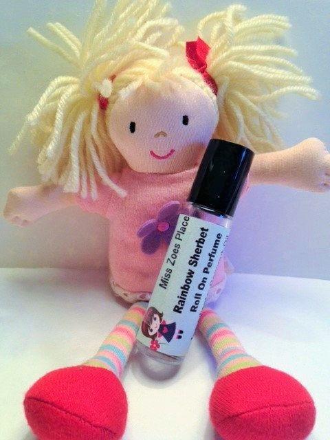 Candy Cane Roll On Perfume, Kids Perfume, Little Girls Perfume, Vegan Perfume…