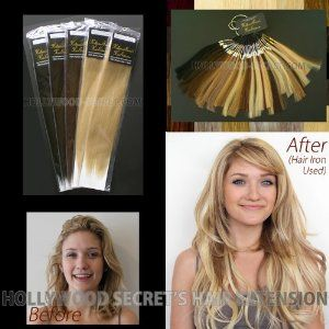 HSHE 'Clip in Hair Extension 8 Packages and Color Swatch Ring Business Starter Set by Hollywood Secret's Hair Extension. $780.00. Clip in Clip On Hair Extension - 8 Packages Starter Set. 8 package with Color Swatch Ring to Start Up Hair Service. Choose 8 Colors. Brand: Hollywood Secret's Hair Extension, Product Name: Clip Hair Extension 8 Packages with Color Swatch RIng Business Starter Set, Retail Price: $1782, *Choose Colors, Hollywood-Secret: We are the online discount be...