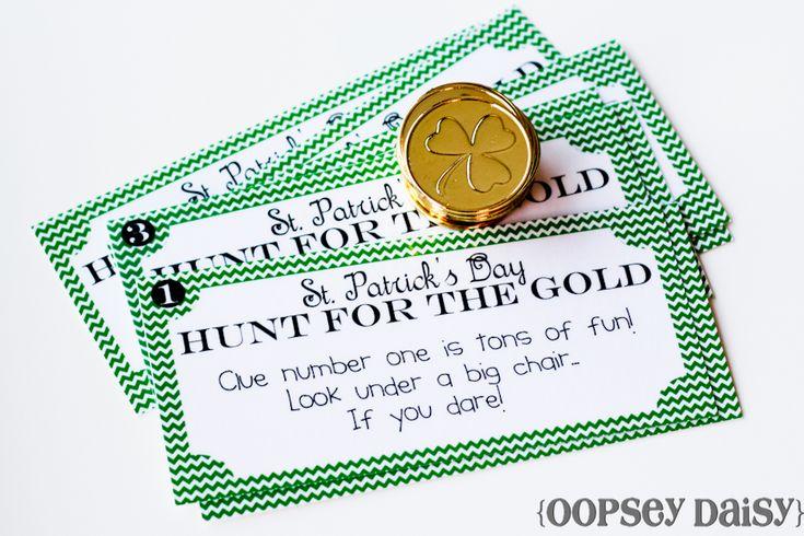Printable treasure hunt for St. Patrick's Day