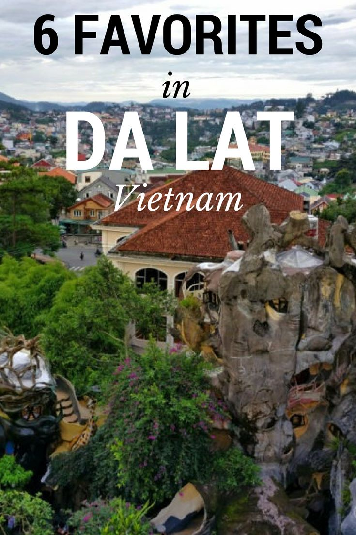 Waterfalls, local wine and weird buildings. We listed our favorite things to do in Dalat, Vietnam! #traveltips #budgettravel #travelblog