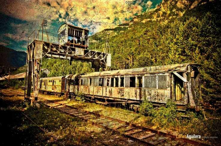 Tren abandonado, Estación Canfranc