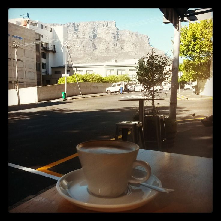 Table Mountain from Cafe Frank, Cape Town