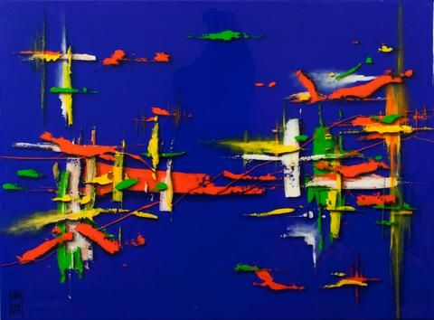 David Hart 'Emotion' - acrylic on board – Angela Tandori Fine Art