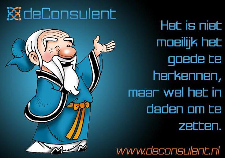 deConsulent: Confucius wist het al. . .