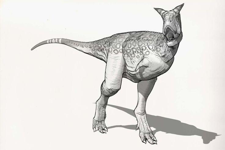 Draw Dinovember Day 28 Carnotaurus, Raul Ramos on ArtStation at https://www.artstation.com/artwork/v9JOA
