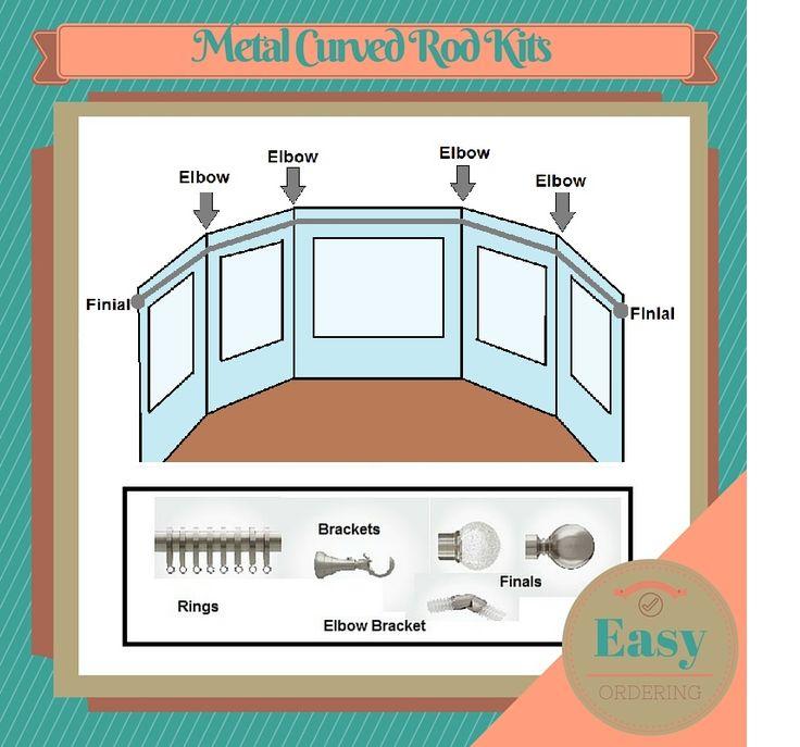 Best 25+ Curved curtain rod ideas on Pinterest | Girls ...