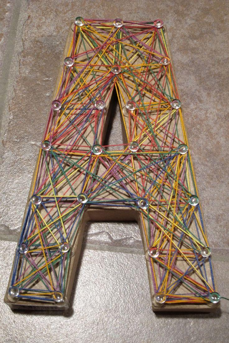 Yarn art color garden - Easy String Art