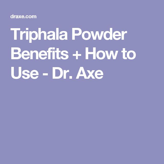 Triphala Powder Benefits + How to Use - Dr. Axe