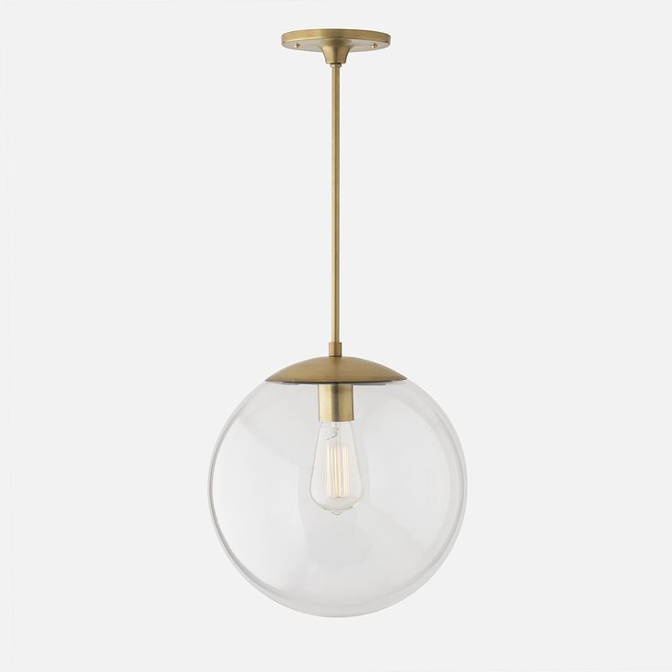 Luna Pendant Rod Natural Brass with