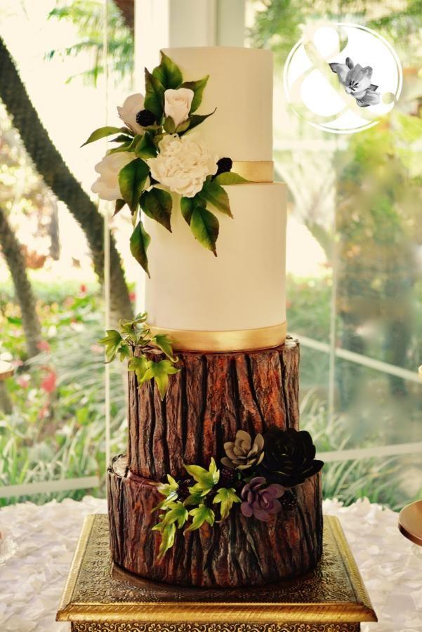 Bride in woodland by Arte y Sabor - http://cakesdecor.com/cakes/281064-bride-in-woodland